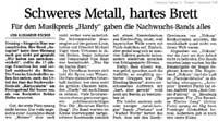 Newspaper articles: Kulturalarm 2005, Freisinger Tagblatt