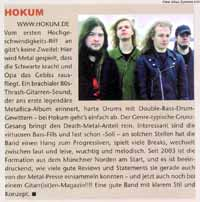 Newspaper articles: No Escape, Gitarre & Bass